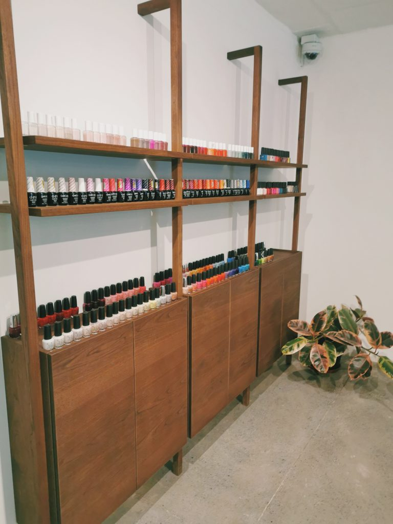 Tenfold Nail Salon Polish Selection